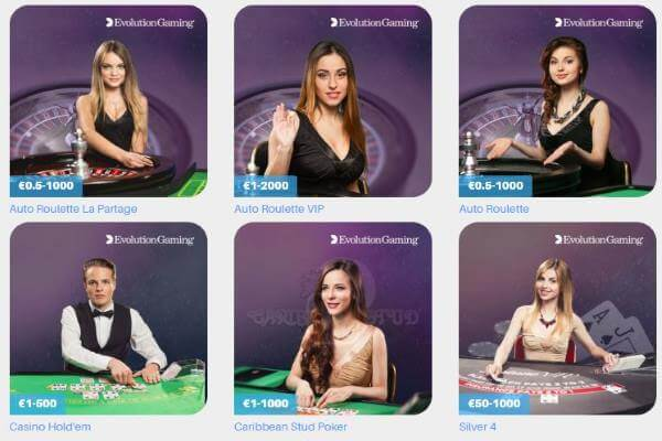 Schnellwetten live casino