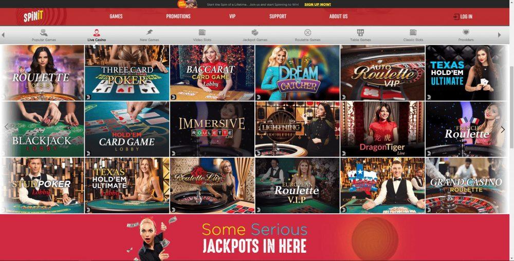 Spinit Live Casino